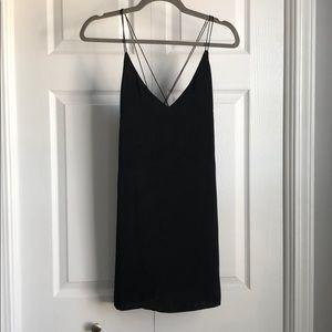 ✨Vick Satin Little Black Dress- S